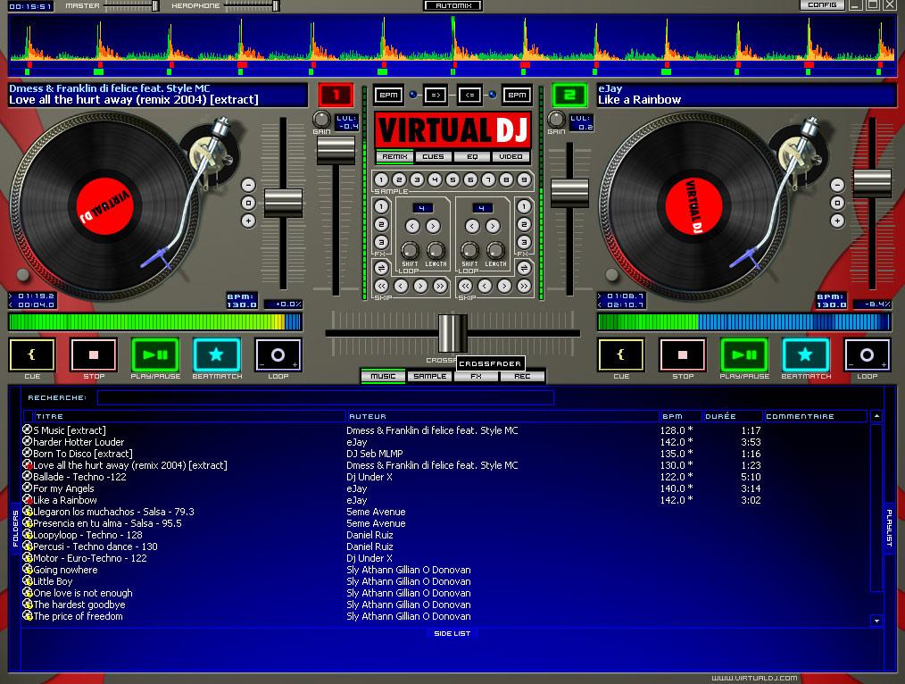 Test de la dj console mk2 dj console 2 me prise - Logiciel table de mixage dj gratuit francais ...